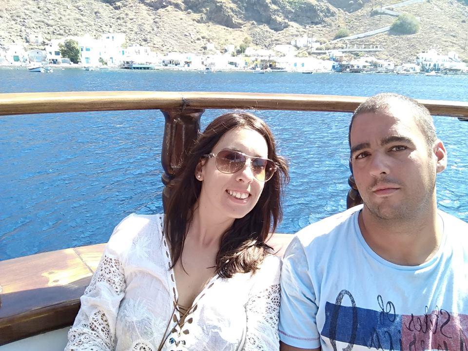 De vuelta a Fira en el barco