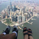 Nueva York desde un helicóptero sin puertas
